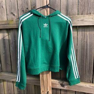 adidas green cropped hoodie